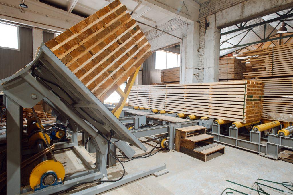 Lumber sorting line